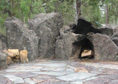 Boulder--Firepit